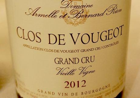 Clos de Vougeot Grand Cru Vieille Vigne 2012, Rion